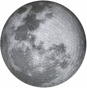 Round Jigsaw Puzzle Educational Game Moon Large 26 Inch 1000 Pieces