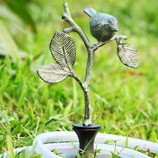 Bird On Branch Hose Guard Guide Verdi Garden Decor Metal Plant Stake