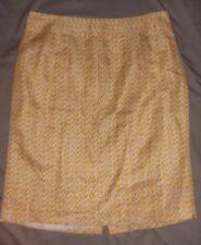 Banana Republic Sz 10 Yellow and White Pencil Skirt Career Casual Summer Womens