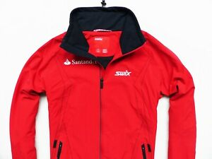 MEN'S RED SWIX NORWAY FULL ZIP CROSS COUNTRY INSULATED SKI JACKET SIZE L (LARGE)
