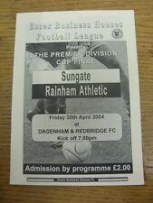 30/04/2004 Essex Business Houses League Premier Division Cup Final: Sungate v Ri