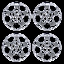 "4 New 2010 11 2012 Ford Fusion 17"" CHROME Wheel Covers Full Rim Hub Caps 5 Spoke"
