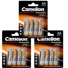 12 x Camelion Akku AA Mignon HR6 1,2V NiMH 2700mAh inkl. Aufbewahrungsbox