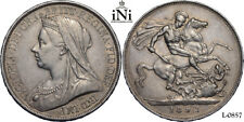iNi  Great Britain, Victoria, CROWN 1893, LVI, nicely toned, XF-UNC