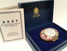 Halcyon Days HM The Queens 40th Anniversary Accession Enamel Trinket Box 1992