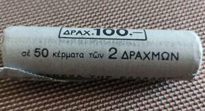 Bank ROLL 50 coins UNC 🔷 Greece 2 DRACHMAS 1988 🔷 Griechenland Grecia Grece