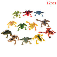 12pcs frogs model action toy figures learning education toys for children gif YK