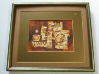 MAURJO RESER PAINTING  1960 ABSTRACT EXPRESSIONISM MODERNISM CHUNKY SMALL GEM