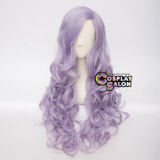 85CM Light Purple Lolita Women Long Curly Party Synthetic Hair Cosplay Wigs+Cap