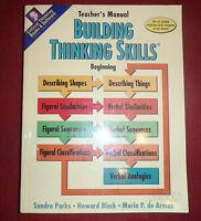 Critical Thinking Skills Teacher's Manual Beginning