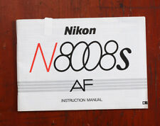 Nikon N8008S Instruction Book/211642