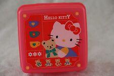 Sanrio HELLO KITTY Plastic Trinket Snack Box Case Divided Dark Pink Vtg 1995 EX