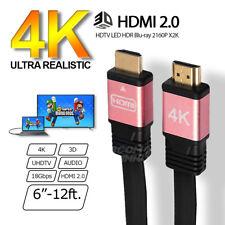 Premium High Speed HDMI V2.0 Cable HDTV LED 3D 2160P 4K X2K HDR Rose Gold