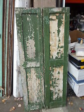 "Pr c1840-50 Paneled house shutters forged hardware Great patina 64.5"" x 14.75"" B"