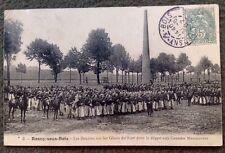 CPA. ROSNY sous BOIS. 93 - ZOUAVES. 1907. Glacis du FORT. Départ Manœuvres