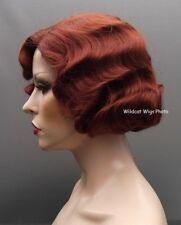 Finger Wave Wig Rose #130 Fox Red  Quality!  Fingerwave .. Theatre Wig *