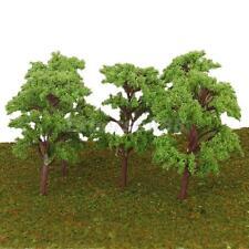 10pcs Model Trees Train Railway Layout Wargame Diorama Scenery Architecture