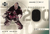 2001-02 UD Challenge for the Cup SEAN BURKE Jersey