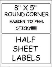 500  QUALITY STICKY!!! HALF SHEET LABELS FOR PAYPAL/USPS SHIPPING NO PERF