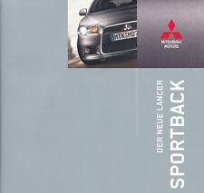 Mitsubishi - Lancer Sportback - Ausstattung - Deutsch - 10/08 - nl-Versandhandel