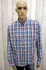 TOMMY HILFIGER Taglia XL Camicia Uomo Cotone Shirt Chemise Casual Manica Lunga