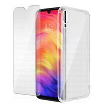 Für Xiaomi Redmi 9A Cover Schutzhülle Transparent + Schutzfilm Glas Gehärtetes 9