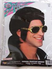 Deluxe Black Elvis Presley Wig Halloween Costume Rubies Trick Or Treat Theater