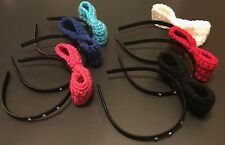 2 Handmade crochet bow headbands (Informing Me Which Two You Want/two Random )