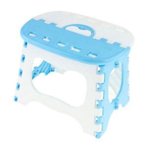Foldable kitchen stool folding stool step stool children's stool step bench blue