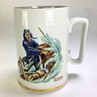 NORMAN ROCKWELL Museum Braving The Storm Seafaring Coffee Mug 1985