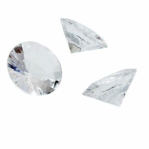 "150 Count Acrylic Gemstone Diamonds Party Décor Kids Motivation 0.78x0.43"" Clear"