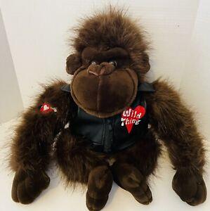 "20"" Dan Dee Plush Ape Biker Motorcycle Harley Stuffed Animal Wild Thing Gorilla"