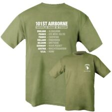 Mens 100% Baumwolle T-Shirt 101st Airborne WW2 Tour schreiend Eagles Armee S-2XL