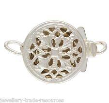 9mm Plata Esterlina Pearl / Collar de abalorios de empuje en joyas broche capturas