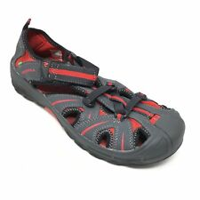Men's Merrell Hydro Water Shoes Size 7M Gray Red Leather Strapped Outdoor X2