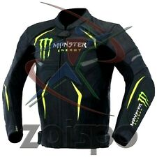 MONSTER MOTOBIKE/Moto Racing Giacca in Pelle Misura UK (48-EUR 58)