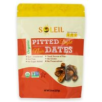 8oz ORGANIC PITTED DEGLET NOUR DATES /CERTIFIED ORGANIC/ NONGMO/VEGAN PACK OF 4