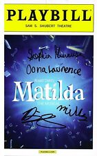 Matilda Musical Cast SIGNED Playbill by All Four Onna Sophia Bailey Milly COA