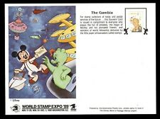 Gambia, Souvenir Card, World Stamp Expo'89, Walt Disney, AR5RDDcx
