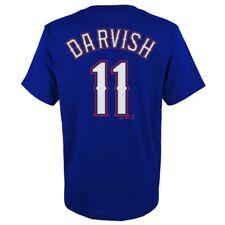 Yu Darvish MLB Majestic Texas Rangers Player Jersey Blue T-shirt Youth (s-xl) XL