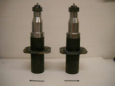 TWO Trailer Axle Spindle #42 6000# 7000# W/ Brake flange EZ Lube hub Stub shaft
