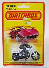 Matchbox #33 POLICE Motorcycle Superfast factory sealed blister card