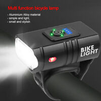 USB Bike Front LED Lamp Cycling Head Light Waterproof Rechargeable Bicycle Lamp