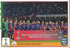 29 2014 CA SAN LORENZO DE ALMAGRO ARGENTINA FIFA CLUB WORLD CUP FIFA 365 PANINI