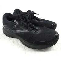 BROOKS ADRENALINE GTS 18 BLACK ATHLETIC RUNNING SHOES MENS SIZE 10 2E WIDE