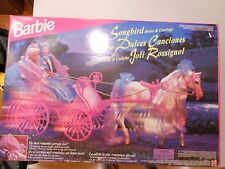 Barbie Songbird Horse & Carriage with Doll VERY RARE Foreign Mattel #14862 NRFB