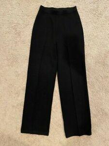 ST. JOHNS Basics Size 4 Women's Black Santana Knit Pants, Elastic Waist