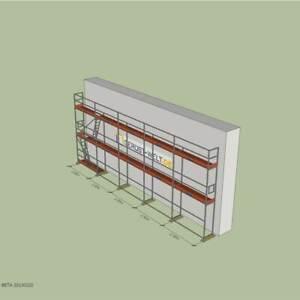 Fassadengerüst Paket Rux Super 65 ALU, 62,5 m², Feldl. 2,5 m