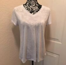 Old Navy Go-Dry Keyhole-Back Top,Med, White/Gray
