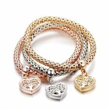 Tree Of Life Heart Edition Charm Bracelet With Real Austrian Crystals For Womem
